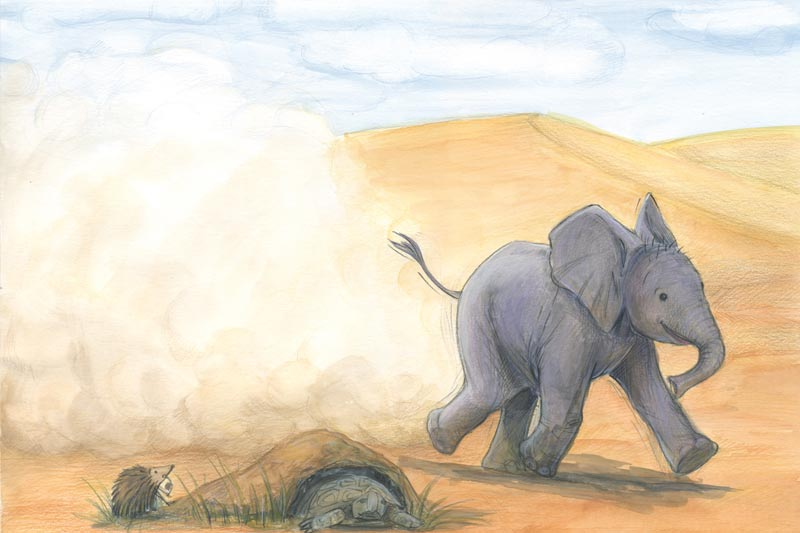 Bobo, der kleine Elefant - Illustration 03